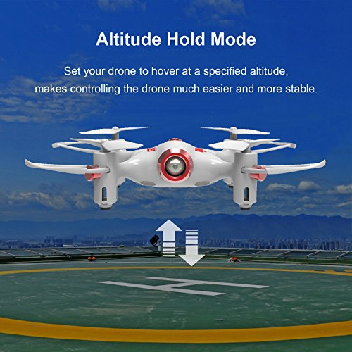 Cheerwing Syma X20 Mini Drone for Kids and Beginners RC Nano Quadcopter with Auto Hovering 3D Flip(White)