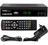Tempo tmp4000 - Decoder Digitale Terrestre DVB T2 / HD / HDMI / Ricevitore TV / PVR / H.265 HEVC / USB /...