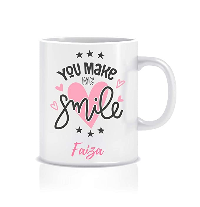 WeChitr Coffee Mug for Faiza Personalised Name Ceramic