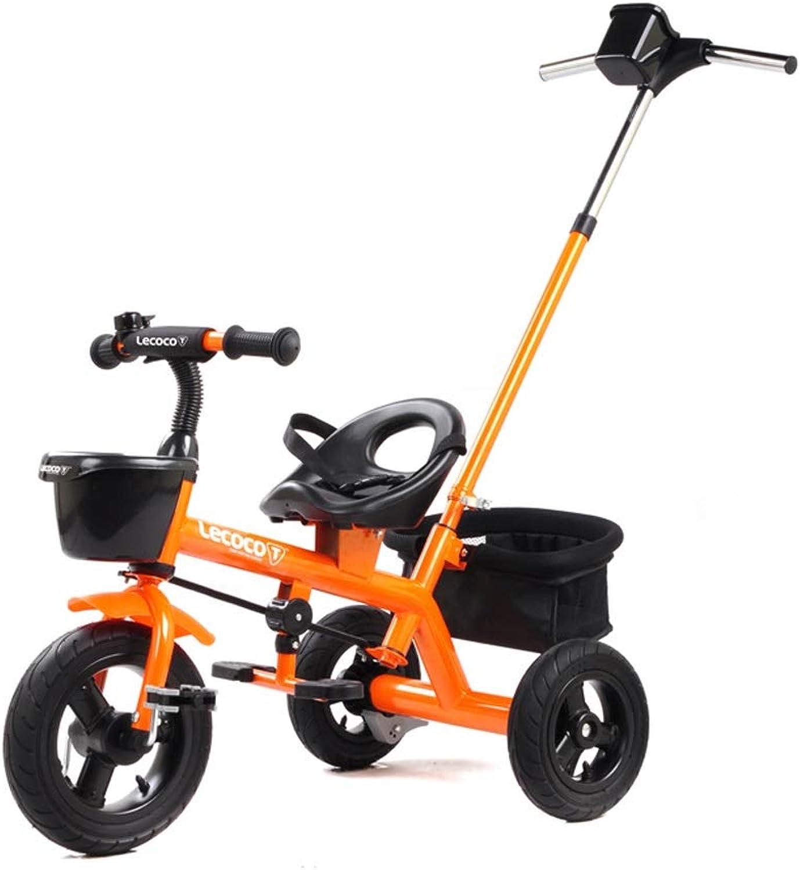 más orden Xhhxiao El Cochero de de de Tres Ruedas de los Niños, Bicicleta Multifuncional del bebé, Rueda Libre Titanium Inflable Amortiguador plástico de la projoección del Medio Ambiente  mejor servicio