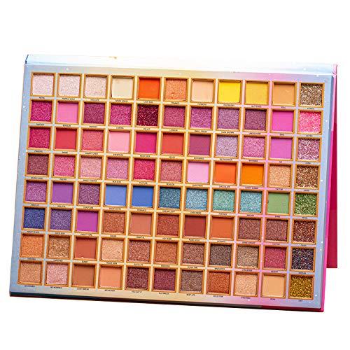Lidschatten Palette Makeup Matte Shimmer 88/63 Farben Highly Pigmented Professionelle Akte Warme Natürliche Bronze Neutral Rauchige Kosmetische Lidschatten (88color-horse)