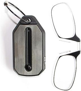 b8cbc225c2 Gafas de lectura de clip de nariz Gafas planas ultra delgadas Lectura sin  brazo Pellizco presbópico