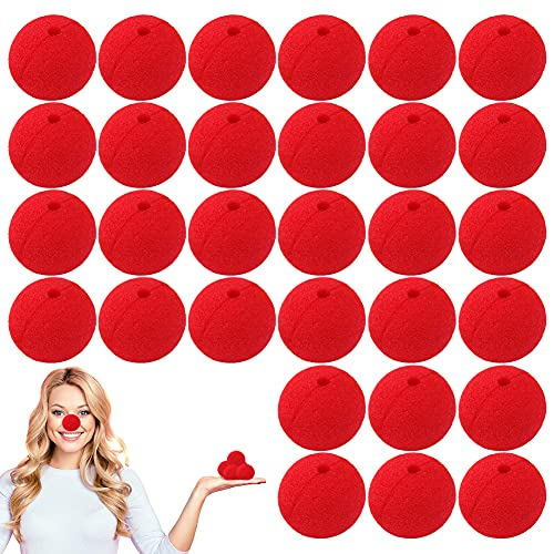 AYEUPZ Payaso nariz roja, 30 unidades, para cosplay, disfraces, fiestas