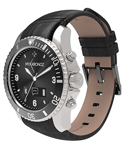 MyKronoz ZeClock OLED 65g Negro, Plata - Relojes Inteligentes (Alrededor, Ión de Litio, Negro, Plata, Negro, Micro-USB B, -10-60 °C)