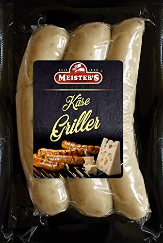 Käsegriller | Gourmet Bratwurst mit Käse Emmentaler | Bautzner Wurst zum Grillen und Braten | 300g