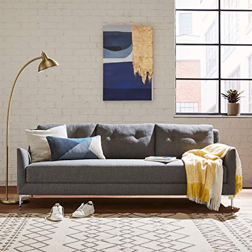 "Amazon Brand – Rivet Abel Modern Contemporary Sofa, 81""W, Charcoal"