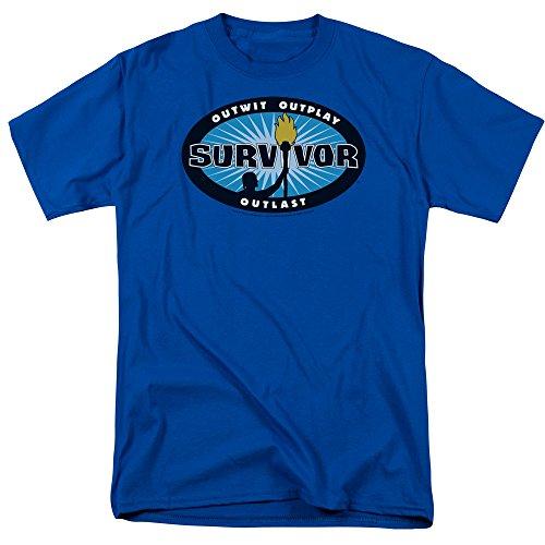 Survivor CBS TV Television Show Blue Burst Tee Adult Unisex Soft Mens T-Shirt (X-Large)