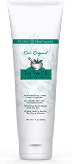 Purely Northwest Tea Tree Foot & Body Cream 8oz.- Moisturizes and Hydrates Severely Dry, Cracked, Calloused Skin-Formulated for Sensitive Skin-Psoriasis, Eczema and Dermatitis