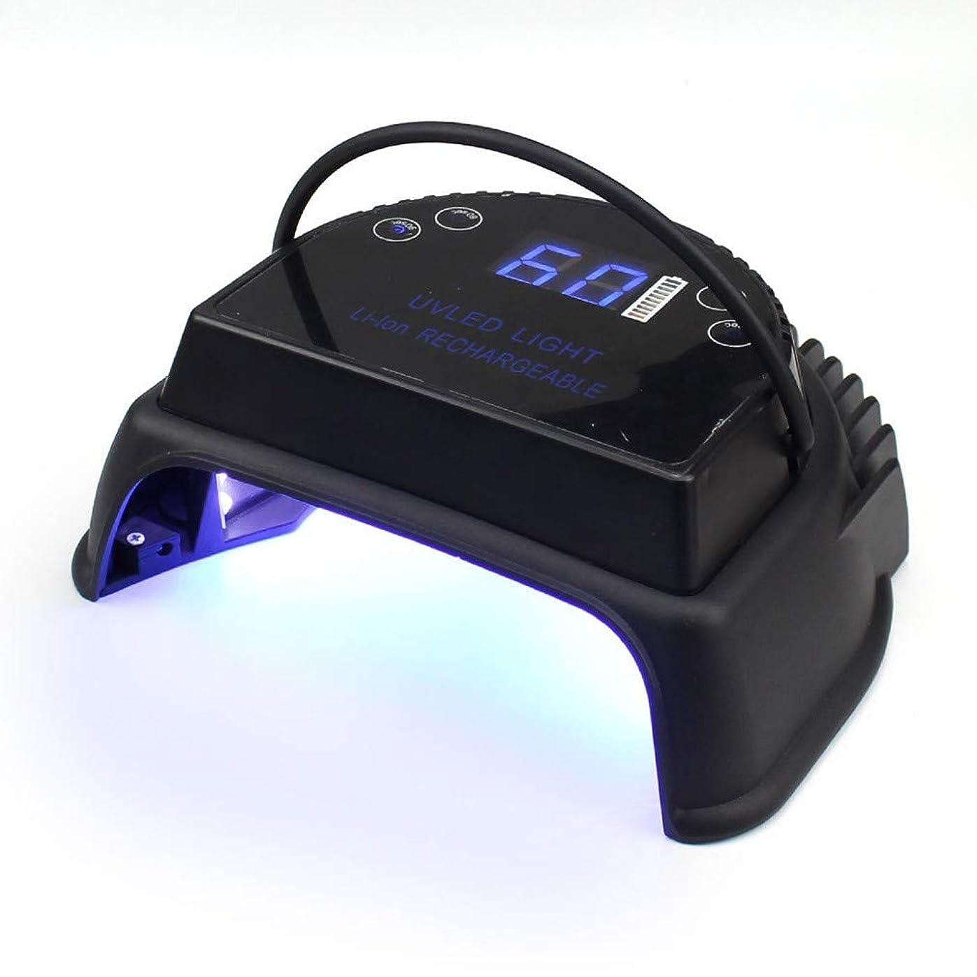 債務者航海の元に戻すUV/LEDネイルライト、ハイパワーストレージスマートネイルドライヤー、内蔵リチウム電池、ジェルネイルポリッシュ用、速乾性、マルチステップタイミング