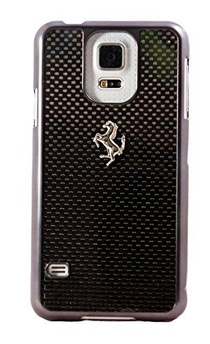 Ferrari GT Carbone - Custodia per Samsung Galaxy S5, Nero/Carbone