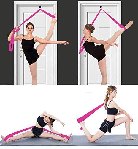 MINGZJ Streching Beinspreizer, Einfache Installation an der Tür Yoga-Gürtel,Dehnungsband für Ballett,Tanzen und Gymnastik Taekwondo (Rosa)