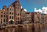 Canal de ámsterdam de la Ciudad Vieja Europa Holanda Rompecabezas para Adultos 1000 Pieza,Madera Rompecabezas de la Familia de que el Juego de la Colección de Juego Educativo de Arte para la Pared de