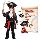 Spooktacular Creations Child Boy Captain Pirate Costume (Medium (8-10 yr)) Black