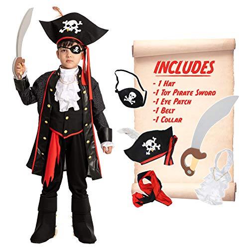 Spooktacular Creations Child Boy Pirate Costume (Small ( 5 – 7 yrs))