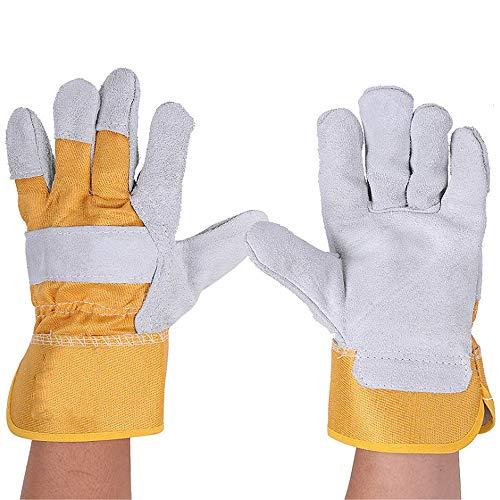 BBQ handschoenen multifunctionele lassen solderen handschoenen 6 paar 27 cm lang voor MIG TIG ARC MMA hittebestendige veiligheid handschoenen lederen handschoenen voor Oven Grill open haard kachel pot houder we
