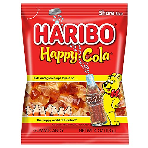 Haribo Gummi Candy, Happy-Cola, 4 Ounce.Pack of 12