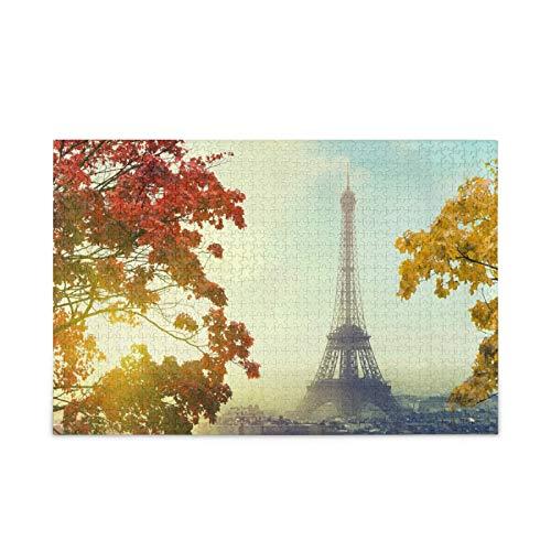 Rompecabezas de flores de la Torre Eiffel para adultos, 500 piezas, rompecabezas de 500 piezas para adultos, desafiantes, niños, adolescentes, juego de rompecabezas familiar