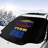 MOLLUDY Protector para Parabrisas Venezuela está en mi ADN Protector para Parabrisas con imán Cubierta de Parabrisas Coche Protege de Rayos Antihielo y Nieve