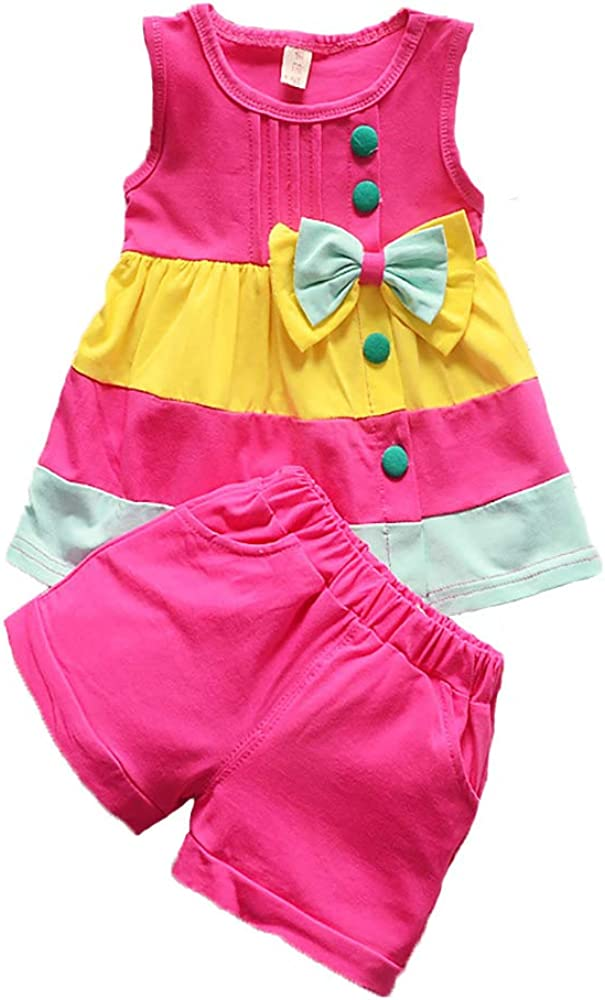 5 ☆ very popular BABICOLOR Toddler San Francisco Mall Baby Clothes for Sleeveless Tops Striped Girls