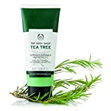 With purifying tea tree oil grown in the foothills of Mount Kenya With biodegradable exfoliators Gently foaming Skin feels smoother Skin looks clearer pores appear unclogged