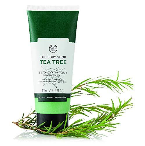 The Body Shop Tea Tree Squeaky-Clean Scrub unisex, Tea Tree Gesichtspeeling 100 ml, 1er Pack (1 x 100 ml)