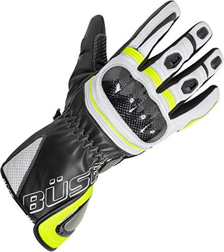 Büse Misano Damen Handschuhe 8 Schwarz/Weiß/Neon Gelb