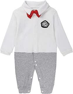 Aiweijia Baby Boys Long Sleeve Gentlemen Wedding Christening Rompers Jumpsuit Bodysuit
