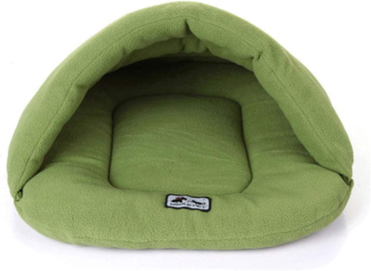 AXIANQI Warm Pet Sleeping Bag Pet Nest Kennel Cat Litter Rabbit Nest Large Medium And Small Pet Nest Pet House Nest A (color   GREEN, Size   M)