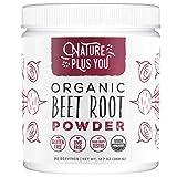 Organic Beet Root Powder: Nitric Oxide Booster, Circulation and Stamina Increasing, USDA Organic, Vegan Beetroot...