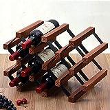 FENGFAN Etagère de rangement en bois pour bouteilles de vin avec 10 bouteilles pour armoire de cave à vin