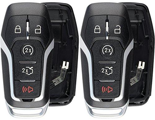 KeylessOption Keyless Entry Remote Smart Key Fob Shell Case Button Pad...