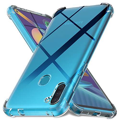 Ferilinso Hülle für Samsung Galaxy A11, M11 Hülle, [Version mit vier Ecken verstärken] [Kamerapflegeschutz] Stoßfeste, weiche TPU-Silikonhülle aus Gummi für Samsung Galaxy A11, M11 Hülle (Transparent)
