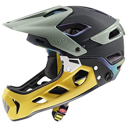 Uvex jakkyl HDE 2.0 Casco de Bicicleta, Unisex Adulto, Forest-Mustard Mat, 56-61...
