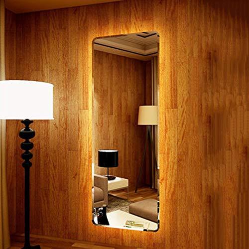 Espejo de luz led Espejo de cuerpo entero Espejo plateado de alta definición Espejo de cuerpo entero montado en la pared Espejo de vestidor sin marco Espejo de tienda de ropa Espejo de cuerpo entero