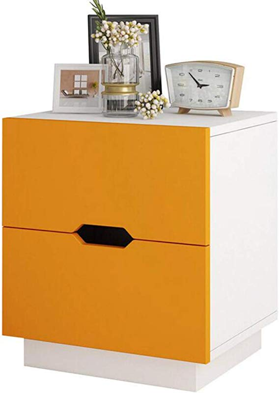 DDSS Bedside Table Mini Bedside Table Modern Simplicity MDF Bedside Cabinet Small Apartment Storage Cabinets 4031 545cm Color C