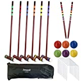 Best Croquet Sets - Juegoal Six Player Deluxe Croquet Set with Wooden Review