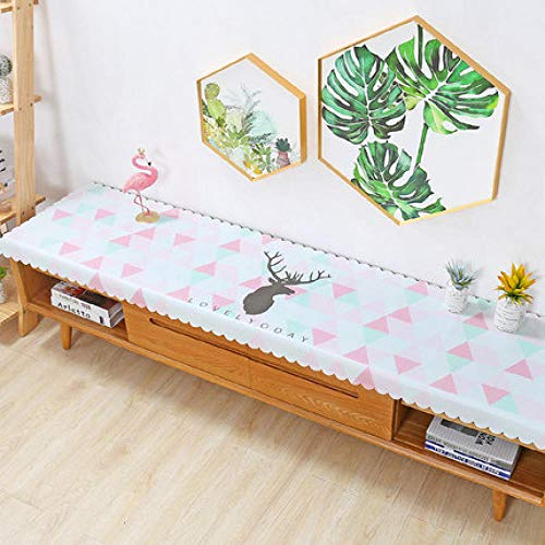 Traann plastic tafelkleden schoon te vegen, Square Wipe Clean tafelkleed Vinyl PVC TV kast deksel doek woonkamer driehoek elk 50*120
