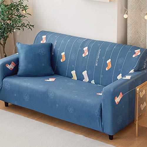 `Star Empty Fundas Sofa Elasticas, Cubierta elástica sofá Tramo Fractal for sofá de la Cubierta habitación Cubierta sillón en Forma de L 1/2/3/4 Asiento (Color : 28, Specification : 1Set 90 140cm)
