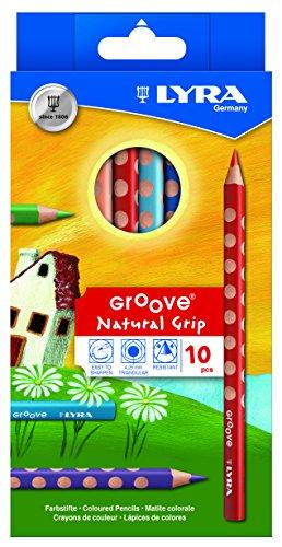 LYRA 3811100 Groove Box de cartón gigante pintado K10 10 lápices de colores [Importado de Alemania]