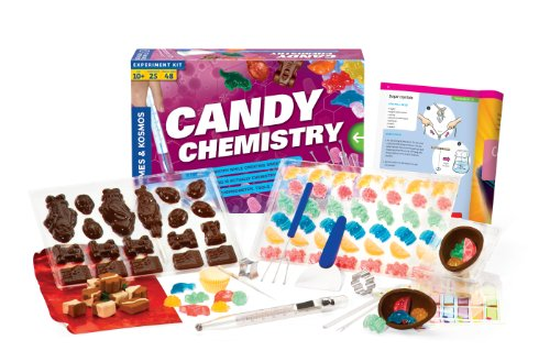 Thames & Kosmos Candy Chemistry   Science Kit   Rock Candy, Chocolates, Gummy Bears, Wintergreen Candies   48 Page Full-Color Manual   Ages 10+   Learn Chemistry, Have Fun   Cooking Science