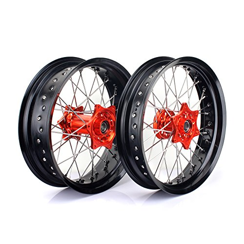 TARAZON Supermoto Radsatz Rad Felgen Wheels Radnabe Set 3,5