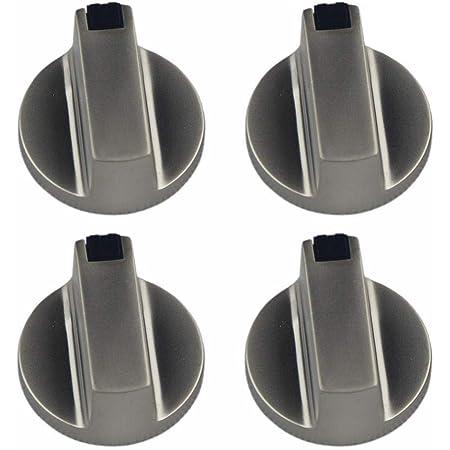 OFKPO Bouton de Gaz, 4 Pcs Cuisinière à Gaz Boutons Alliage de Zinc Cuisine Four Bouton Rotatif Universel Locks Four Interrupteur Surface de Cuisson Control, 6 mm