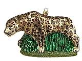Pinnacle Peak Trading Company Leopard Polish Mouth Blown Glass Christmas Ornament Wild Cat Tree Decoration