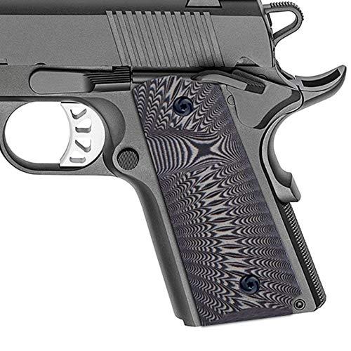 Guuun G10 Grips for 1911 Compact/Officer, Sunburst Texture - Gray/Black