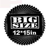 unuaST Black Heat Transfer HTV Vinyl-15 Pack of 12x15 Iron On Vinyl Sheet for T-Shirts