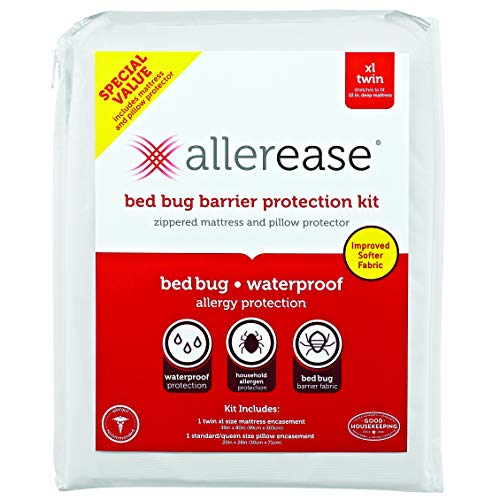 Aller-Ease Bug Barrier Mattress & Pillow Protector, Twin XL,...