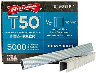 Arrow 508-IP T50 1/2-Inch Staples, 5000-Pack