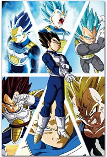 WZGJZ Leinwand Bild Saiyajin Goku Und Vegeta Dragon Ball Wandkunst Poster Print Home Decor Jz1136We 40X60Cm Rahmenlos