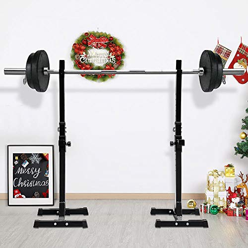 Topeakmart Olympic Barbell Bar 7ft Chrome Weight Lifting Bar Weighted Exercise Bar Barbell Bar Weight Bench Set