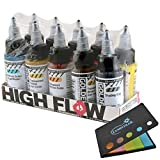 Golden Paint Acrylics High Flow 10 Bottles Assorted Colors (954-0) Bundle with a Lumintrail Colored Sticky Notes Set